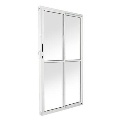 Porta de Correr Alumínio Branco 2 Folhas Direita 210x150x8cm Ecosul