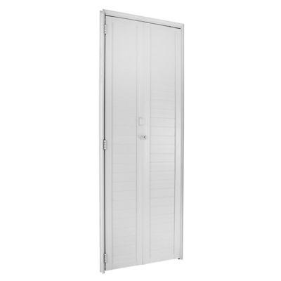 Porta Camarão Alumínio Branco Esquerda 210x90x6cm Fortsul
