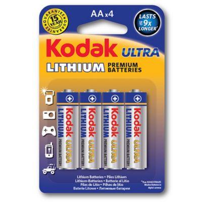 Pilha Ultra Lithium AA com 4 Unidades Prata