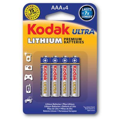 Pilha Ultra Lithium AAA com 4 Unidades Prata