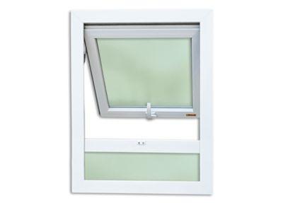 Janela Maxim-ar PVC Branco Móveis 80x80x3,8cm Itec