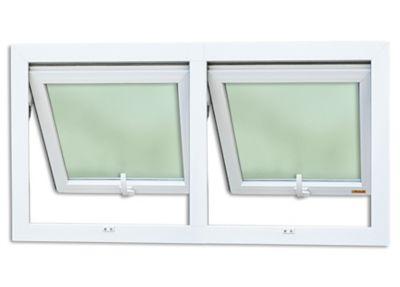 Janela Maxim-ar Duplo PVC  2 Folhas Móveis 80x120x3,8cm Itec