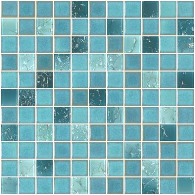 Pastilha de Porcelana PL8712 2,5x2,5cm 30x30cm Azul