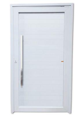 Porta Pivotante PVC Branco Esquerda 216x100x6cm Tec Plus 100