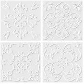 Revestimento Decorado Artsy Floral White Acetinado 20x20cm