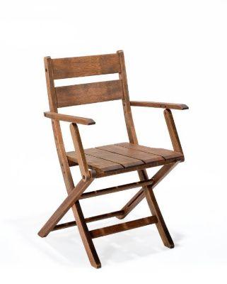 Cadeira Dobrável Verona com Braços Nogueira