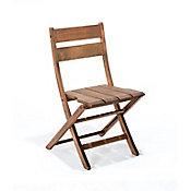 Cadeira Dobrável Verona sem Braços Nogueira