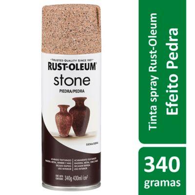 Tinta Spray Especialidades Stone 340G Acabamento Efeito Pedra Decorativa Bege Sienna Rust-Oleum