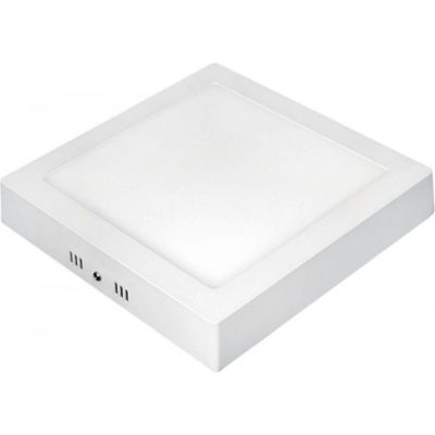 Painel de Sobrepor LED 12 Quadrado 6W 3000K Autovolt