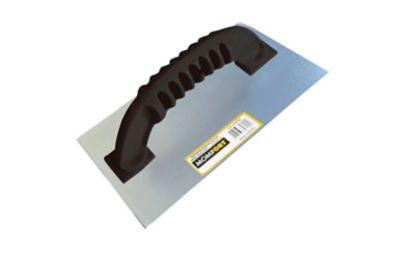 Desempenadeira de Aço Cabo Plástico Lisa 12x24cm