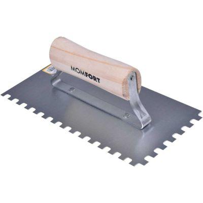 Desempenadeira de Aço Cabo Plástico Dentada 12x24cm