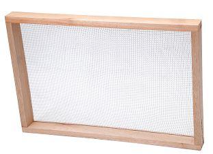 Peneira Reta Malha 6 Aro Madeira 40x60cm Feijão