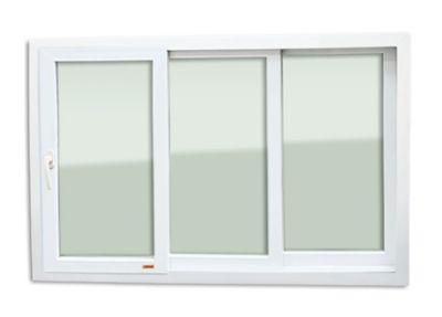Janela de Correr Com Cremona PVC Branco 3 Folhas Móveis 100x150x11cm Itec