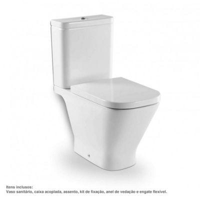 Kit Completo Vaso Sanitário com Caixa Acoplada e Assento Gap Branco