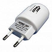 Carregador de Tomada USB com 2 saídas Bivolt  127/220V Branco