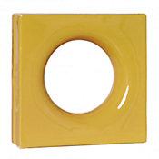 Tijolo Vazado Esmaltado Lua 25x25cm Amarelo Girassol