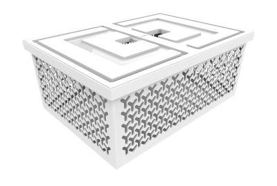 Cesto Organizador com Tampa 18,2x32,7x45,2cm Branco