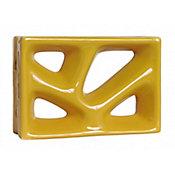 Tijolo Vazado Esmaltado Rama Amarelo Canário