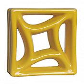 Tijolo Vazado Esmaltado Estrela do Mar 18,5x19,5cm Amarelo Girassol