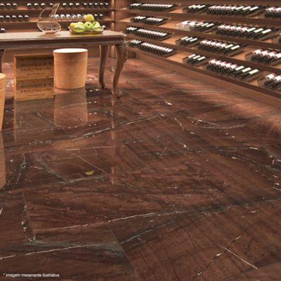 Porcelanato Polido Montalcino 52,7x105cm Caixa 1,70m² Retificado Marrom