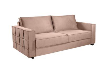 Sofa Santiago Sue Print 83x180x87cm Bege Escuro
