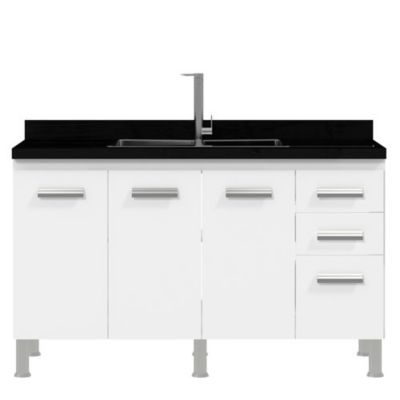 Gabinete Alfa 55x120cm Branco