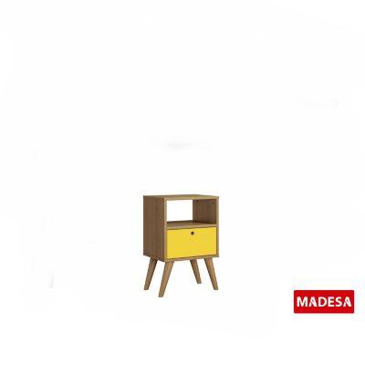 Gaveteiro Geo Madeira Rustico 30x56x36cm 1 Gaveta Amarelo