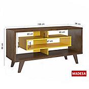 Rack Madeira Nelly Rustico 38x66x136cm Amarelo