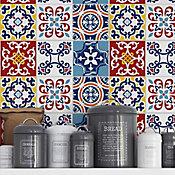 Adesivos para Azulejo Campinha Colorido 15x15cm