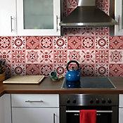Adesivos para Azulejo Rouge 15x15cm Colorido