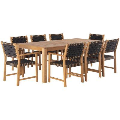 Conjunto de Mesa para Jantar Parga 9 Peças Marrom e Preto
