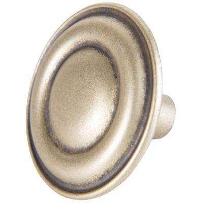 Puxador para Móveis Botão Couro 3,3cm Marrom