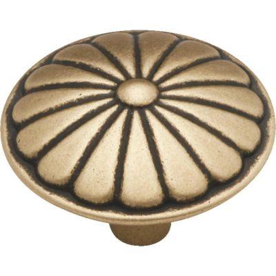 Puxador para Móveis Botão Couro 3,5cm Marrom