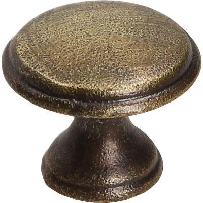 Puxador para Móveis Botão Envelhecido 2,9cm Bronze