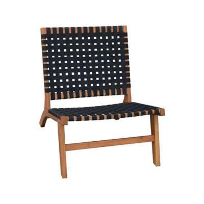 Cadeira de Madeira para Varanda 79x66x79cm Marrom e Preto