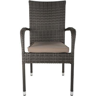 Cadeira Porto Rattan de Alumínio PE Marrom