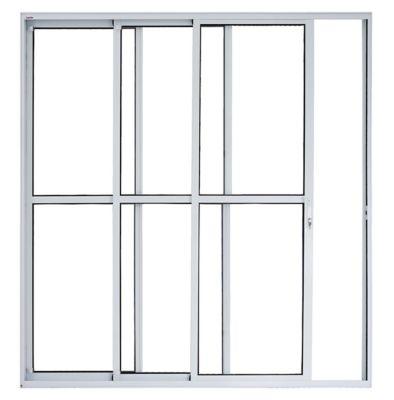 Porta de Correr Alumínio Branco 3 Folhas Esquerda 210x200x11,4cm Malta