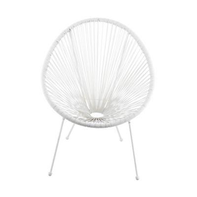 Cadeira Cozumel Ratan Pe Branco