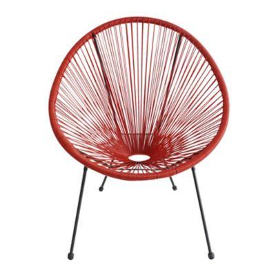 Cadeira Cozumel Ratan 71x79x86cm para Área Externa Vermelho