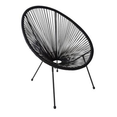 Cadeira Cozumel Ratan 71x79x86cm para Área Externa Preto