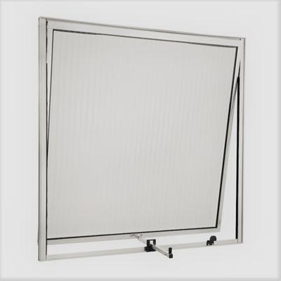 Janela Maxim-Ar Alumínio Brilhante 60x60x2,5cm Ecosul