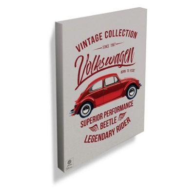 Tela VW Bettle Vintage Collection 30x40x1,5cm Vermelho