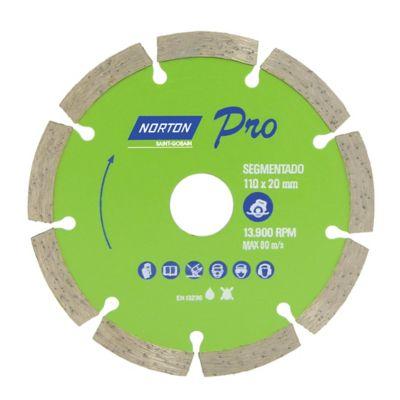 Disco 110X7.5X20 Segmentado 39708, Verde - Norton
