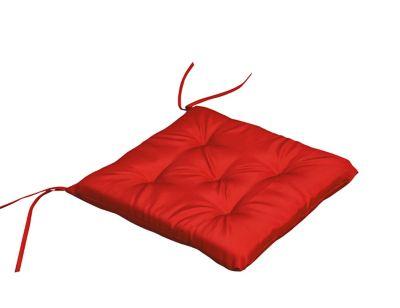 Almofada Poliéster UV50 para Cadeira 43x43cm Cinza e Vermelho