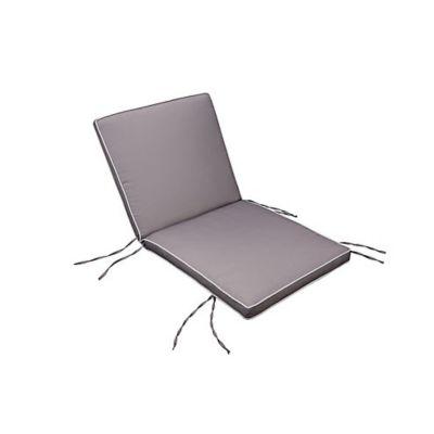 Almofada de Poliéster para Cadeira UV50 115x55cm Cinza