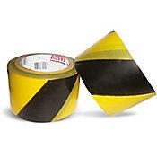 Fita Demarcação de Área 70mmx200m Preto Amarelo