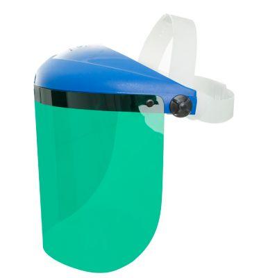"Protetor Facial 8"" Azul Verde Branco"