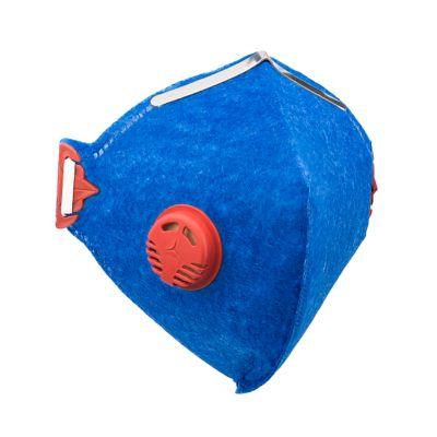 Máscara Pff1 Valvulada Prosafety Azul Vermelho