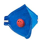 Máscara Pff1 Valvulada Pro Agro Azul Vermelho