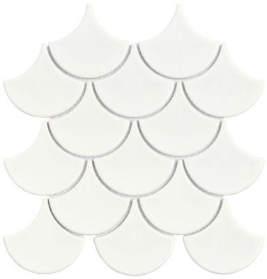 Mosaico Ritmos Wh 25,9x27,3cm Branco